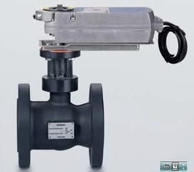 沙龙365国际机组电动调节阀法兰球阀VAF51.65,西门子球阀,空调水阀