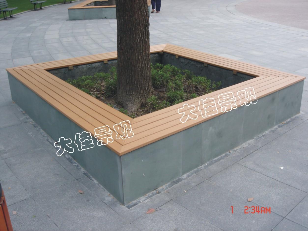 木头景观座椅手绘图