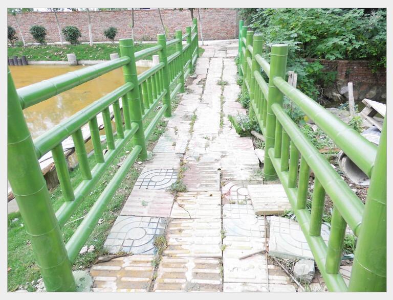 户外景观水泥仿竹栏杆 仿竹栅栏
