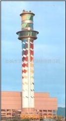 盐城市烟囱刷航标,刷色环(无脚手架作业)