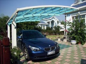 上海停车棚厂家生产铝合金停车蓬车篷