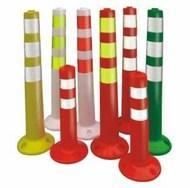 警示分道柱PVC柔性柱柔性弹力柱批发PVC警示柱厂家高强防撞柱公司钢制警示柱