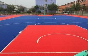成都悬浮拼装地板幼儿园篮球羽毛球网球场运动地板