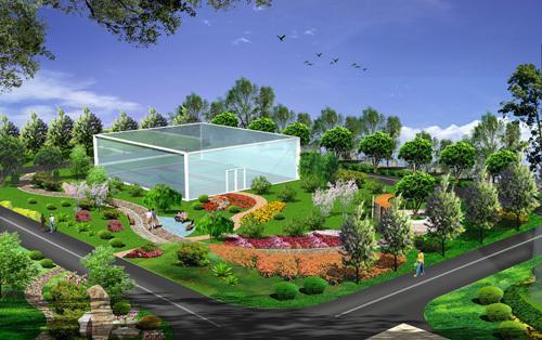 办公楼景观设计_co土木在线