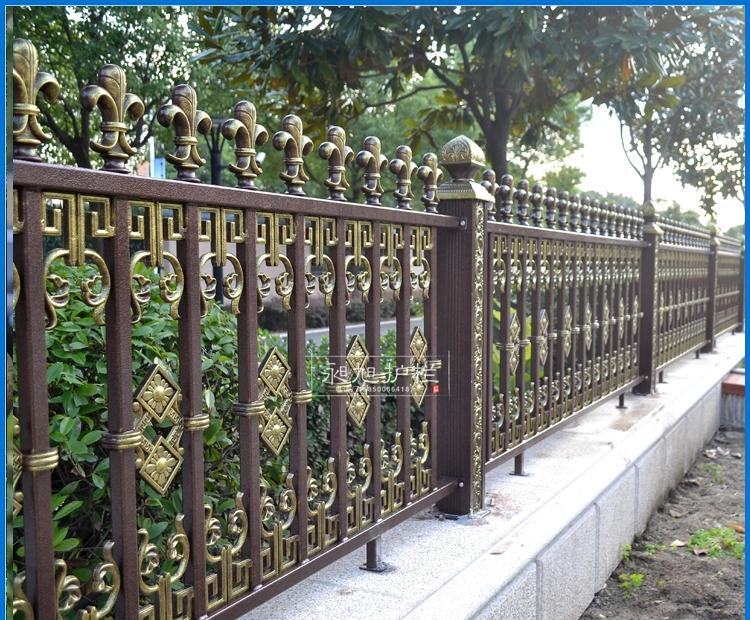 铝艺栅栏 铝合金别墅花园围墙护栏 高档欧户外庭院围