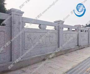 仿石栏杆浮雕多彩