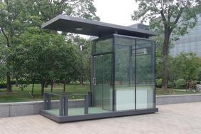供应玻璃岗亭,玻璃站台