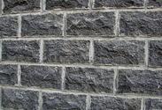 黑色玄武岩蘑菇面墙石GCWB762