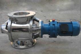 不锈钢星型卸料器 叶轮给料机 301s卸料器 链条转动不锈钢旋转阀
