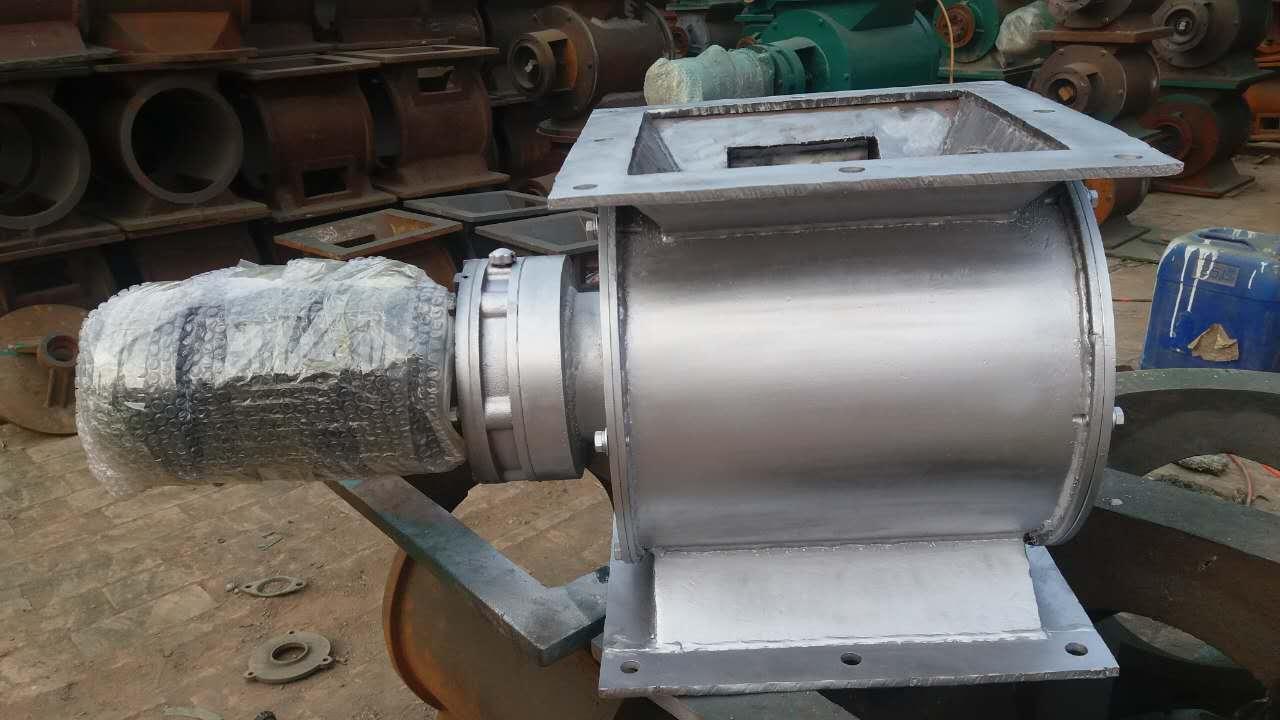 不锈钢星型卸料器 叶轮给料机 301s卸料器 链条转动不锈钢旋转阀图片