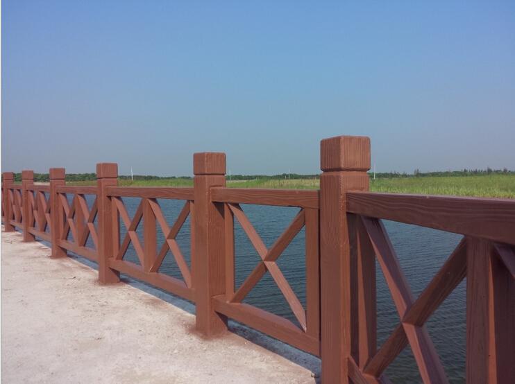 道路景观水泥仿木栏杆