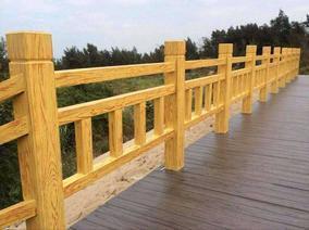 江西水泥艺术仿木护栏围栏栏杆专业施工