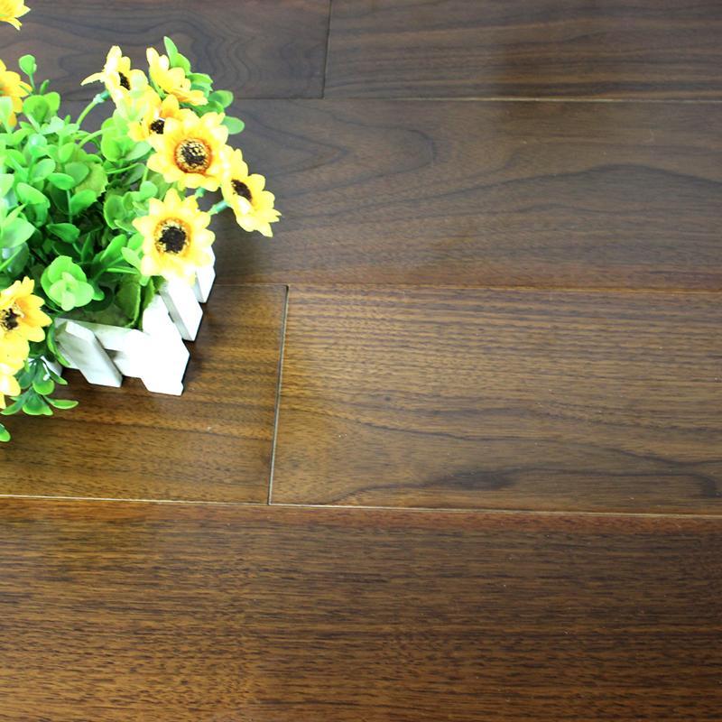 工厂直销黑胡桃多层实木复合木地板地暖地热
