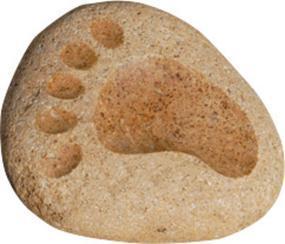 溪石鹅卵石脚印GGQ029