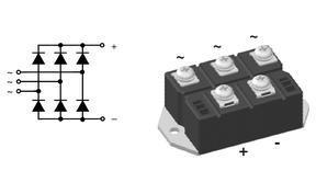 IXYS艾赛斯VUO55-16NO7可控硅半桥VUO82-16NO7