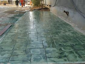 天水艺术压花地坪材料-甘肃彩色混凝土压模地坪