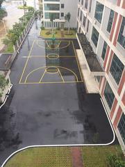 篮球场划线 排球场划线 球场标线 校园划线 公路道路划线