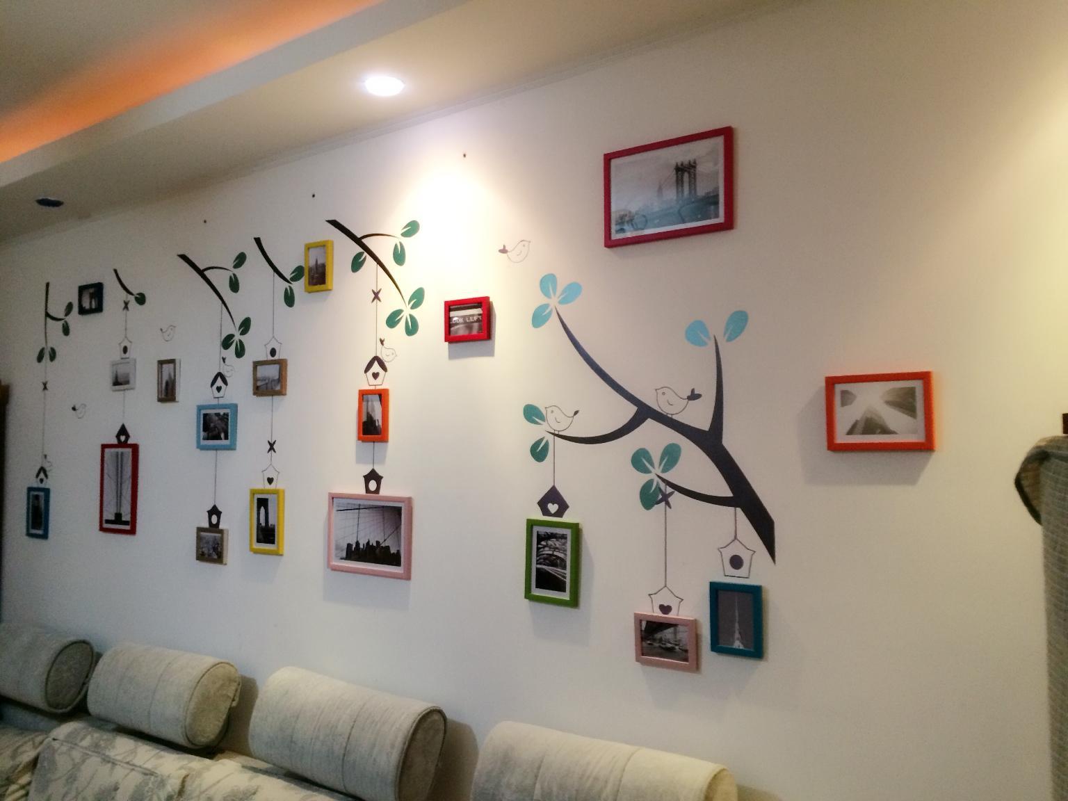 龙柒墙绘 各种背景墙沙发电视床头照片背景墙