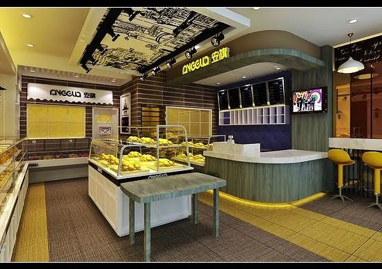 成都最好蛋糕店装修设计公司/蛋糕店面包店装修设计效图片