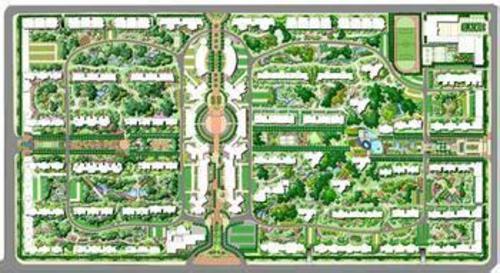 园林苗圃平面手绘图