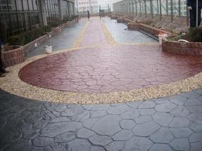 供应彩色混凝土艺术地坪、透水混凝土,彩色混凝土