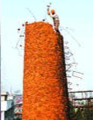 ★鹤壁60米50米45米40 砖烟囱人工拆除★