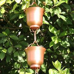 广西海南铜花瓣形圆形五角星行雨水链