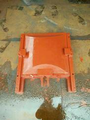 PGZ单吊平面拱形铸铁闸门0.3*0.3