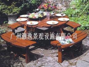 连体圆形套椅HY-1141
