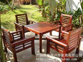 广州易居路易舒豪.LOUISUHO批发古朴典雅中式户外桌椅,实木桌椅,户外休闲套椅