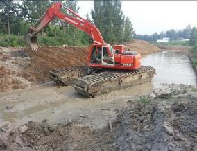 水陆挖掘机出租、水上挖掘机