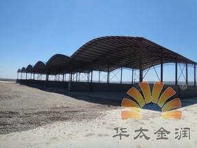 轻钢结构彩钢棚砂石料棚钢筋棚拱棚野外考古用遮挡棚