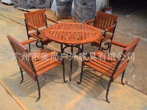 进口木户外家具/园林座椅/铁木桌椅/实木户外桌椅