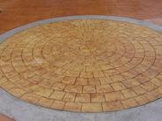 彩色水泥压印地坪道路做法 2013款艺术压模地坪优惠预订