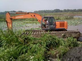 河道淤泥清淤挖掘机 水陆挖掘机
