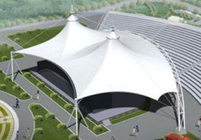 膜结构停车棚 体育场看台膜结构 景观膜结构