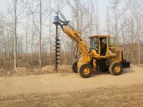 装载挖坑机价格  装载挖坑机型号   挖坑机厂家