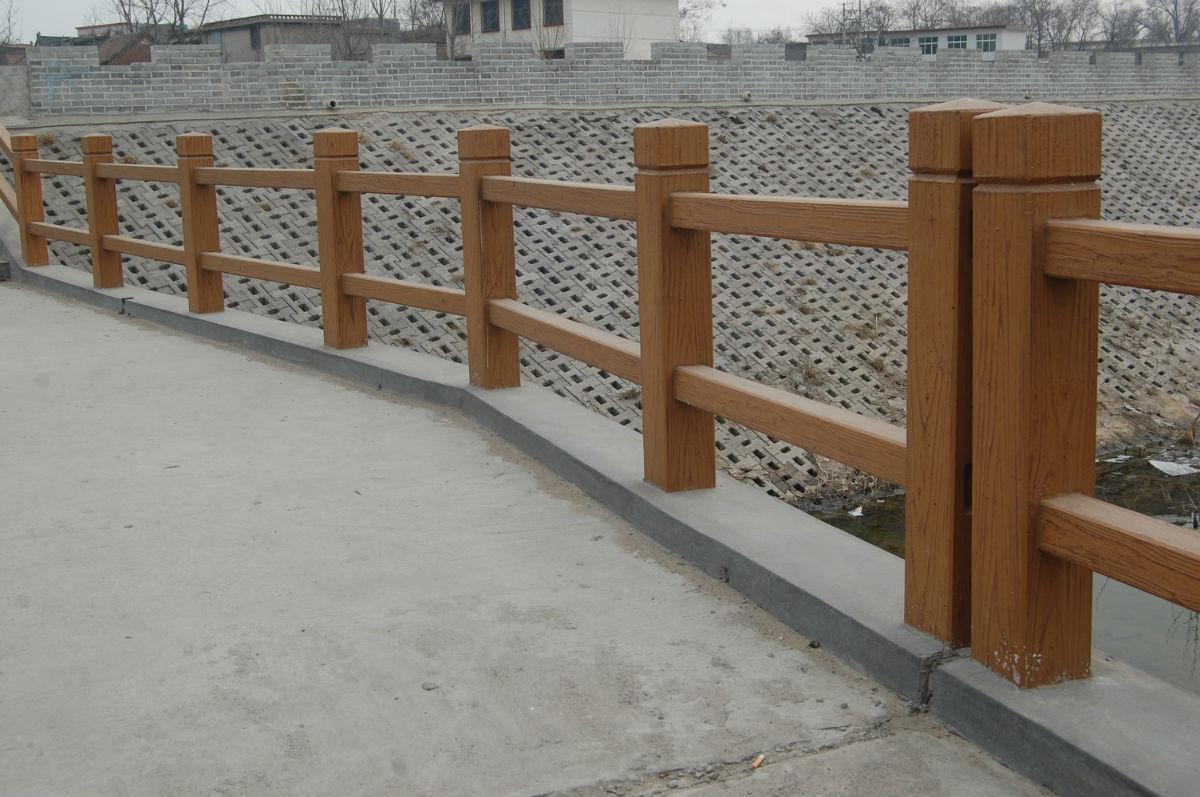 建筑景观水泥仿木栏杆