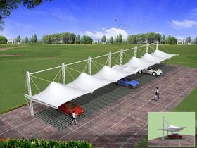 膜结构车棚景观张拉膜