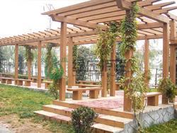 仿木亭廊,仿木小品,园林设施,景观绿化