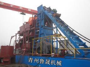 河道淘金设备挖沙淘金船