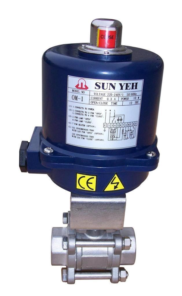 供应山野sunyeh电动阀,电动球阀,进口电动执行图片