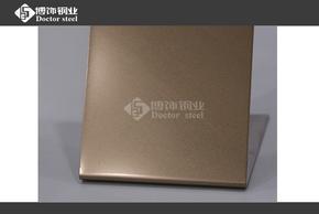 SUS304不锈钢玫瑰金喷砂板