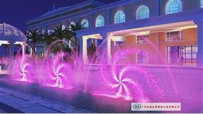 风水车式喷泉