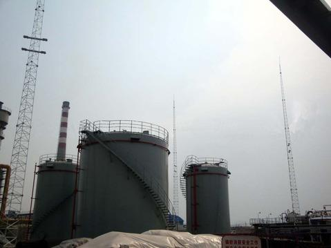 25米三柱圆钢独立避雷针塔