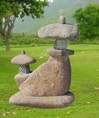 自然石灯笼雕刻GGL378