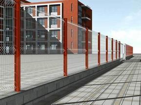 小区/住宅区桃形柱护栏/防腐性能强/经济适用
