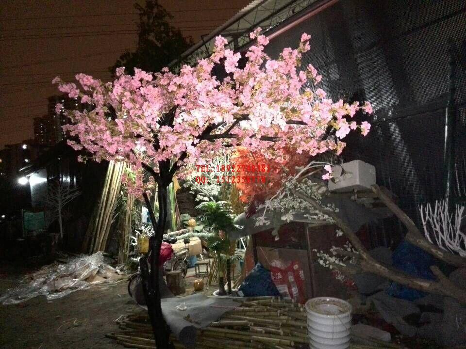 人造樱花树 生产直销 室内仿真樱花树艺术造型