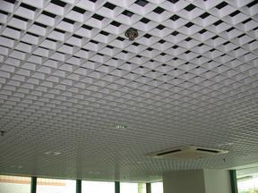 铝格栅吊顶材料 彩色铝格栅装饰材料