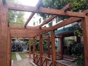 济宁仿木护栏栏杆仿木葡萄架花架花箱座椅坐凳